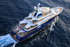 Superyacht POLARSTAR - Decks from Above