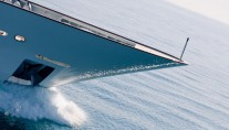 Superyacht PRIDE -  Running Shot of Bow