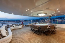 Superyacht PRIDE -  Upper Deck Dining