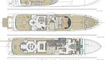 Superyacht Pherousa layout - Image courtesy of Nereids Yachts
