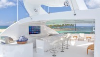Superyacht REBEL - Sundeck wet bar