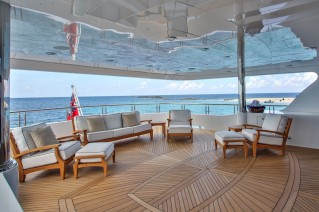 Superyacht REBEL - Upper deck aft