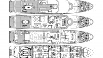 Superyacht SILVER LINING - Layout