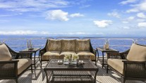 Superyacht SILVER LINING - Upper aft deck lounge