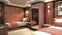 Superyacht SOMETHING COOL - Twin Cabin - Image credit to Dutchmegayachts