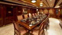 Superyacht TITANIA -  Formal Dining