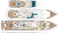 Superyacht TITANIA -  Layout