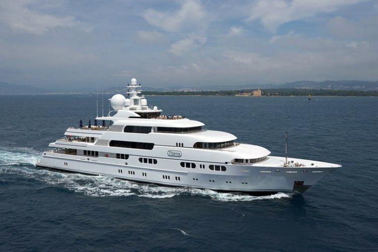 Charter superyacht titania ex apoise lurssen yachts