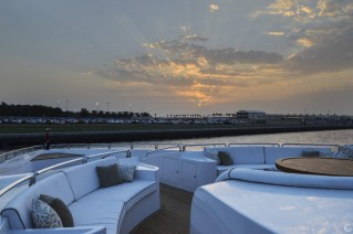Superyacht UAQ 1 - bow seating area