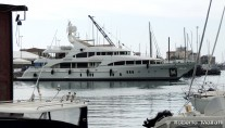 Superyacht VICA moored in the port of Livorno - Photo by Roberto Malfatti