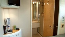 TRES HERMANOS III  -  Starboard Guest Cabin and bath