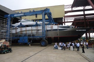 TSUMAT, Trinity Yachts T057, Her Launch Celebration Gets Underway - Photo Credit Trinity Yachts