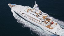 Talisman C superyacht - view from above
