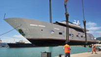 Tecnomar Nadara 30 Superyacht AURORA at her launch