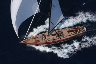 Tempus Fugit Yacht from above