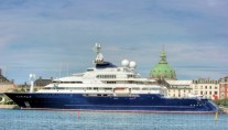 The 126 m mega yacht OCTOPUS - Photo by Niels M Knudsen
