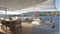 The Feadship Superyacht Helix Bridge Deck Aft