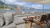 The Yacht OBSESSION -  The Bridge Aft Deck Seating