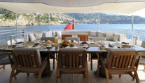 The Yacht OBSESSION -  The Bridge Aft Deck