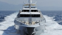 The Yacht OBSESSION - The Bow While underway