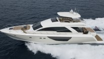 The brand new Alpha Express 76 Flybridge yacht by Cheoy Lee