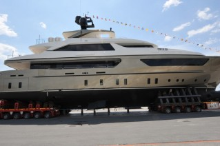 The launch of the 46m motor yacht Achilles by Sanlorenzo.JPG