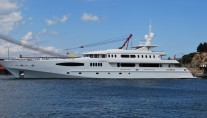 The launch of the 58m superyacht Egeria by Egeria Yachts