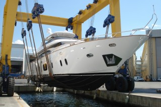 The launch of the luxury yacht Efficient Propulsion.JPG