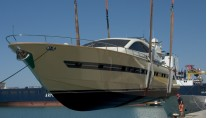 The launch of the new Cerri 86 motor yacht PACHAMAMA by Cerri Shipyard