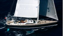 The luxury yacht Swan 82
