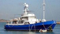 The sport fishing expedition yacht Blue Dream