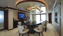 The stunning 72 metre yacht Azteca - Dining Room
