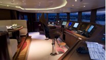 The wheelhouse - Yacht Eminence -Interior by Reymond Langton Design
