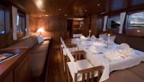 Tiziana Salon looking aft