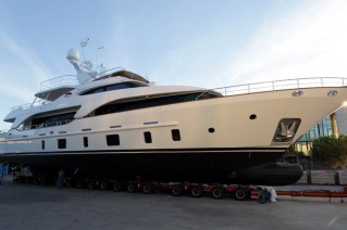 Tradition 105 superyacht Serenity by Benetti at launch