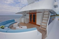 Upper Forward Deck aboard Sea Bear Superyacht