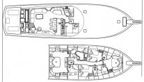 Viking motor yacht MUSTANG SALLY - Layout