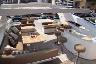 WILLPOWER - Sundeck looking Aft
