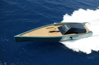 WallyPower 118 Yacht from above