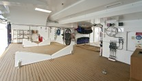 Water toys storage and stern on BARAKA yacht