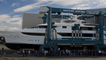 Westport 164 superyacht Hull 5012 at launch