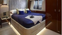 X5 superyacht - Port Double Cabin - Photo credit to Princess Yachts International plc