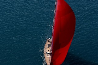 Xnoi superyacht under sail