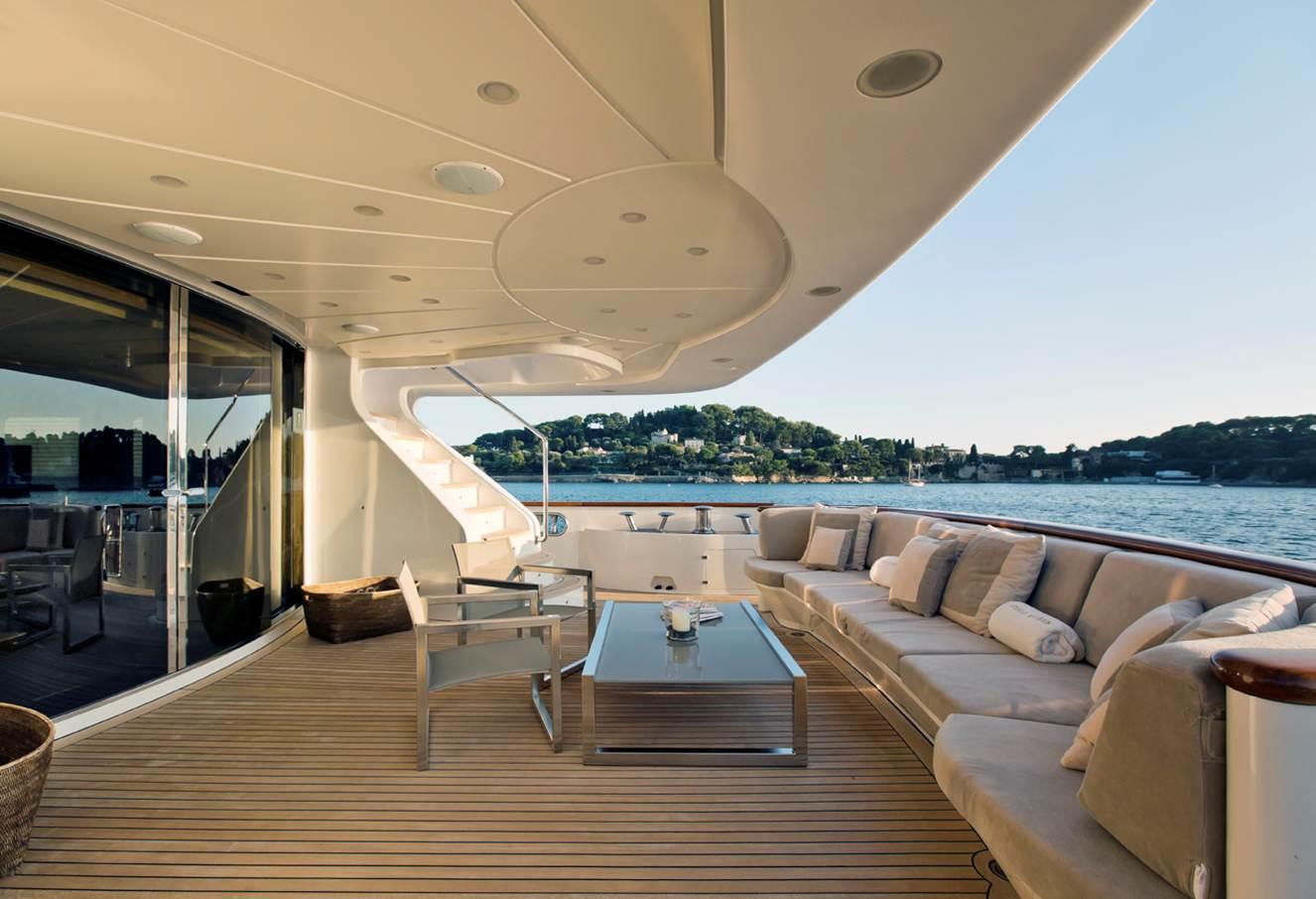 Yacht AFRICAN QUEEN -  Aft Deck