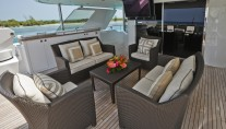 Yacht AMARULA SUN -   Bridge Deck Aft Seating with TV