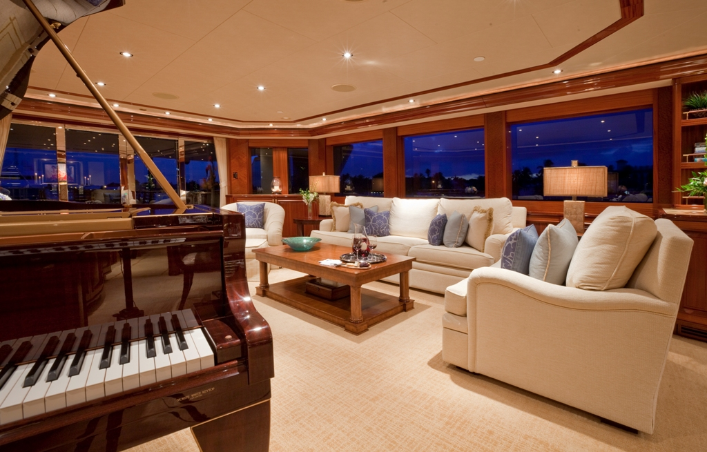 Yacht Amarula Sun Main Salon And Piano Luxury Yacht Browser By Charterworld Superyacht Charter