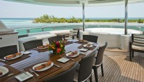Yacht AMARULA SUN -   Sundeck Dining and spa pool