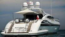 Yacht AMAZING -   Aft View