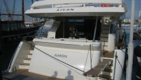 Yacht AMON -  Aft View in port