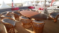 Yacht ANNAMIA -  Bridge Deck Dining